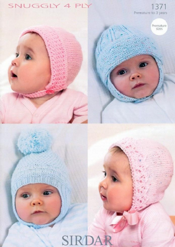 Sirdar  Baby Hats  in 4 ply - 1371
